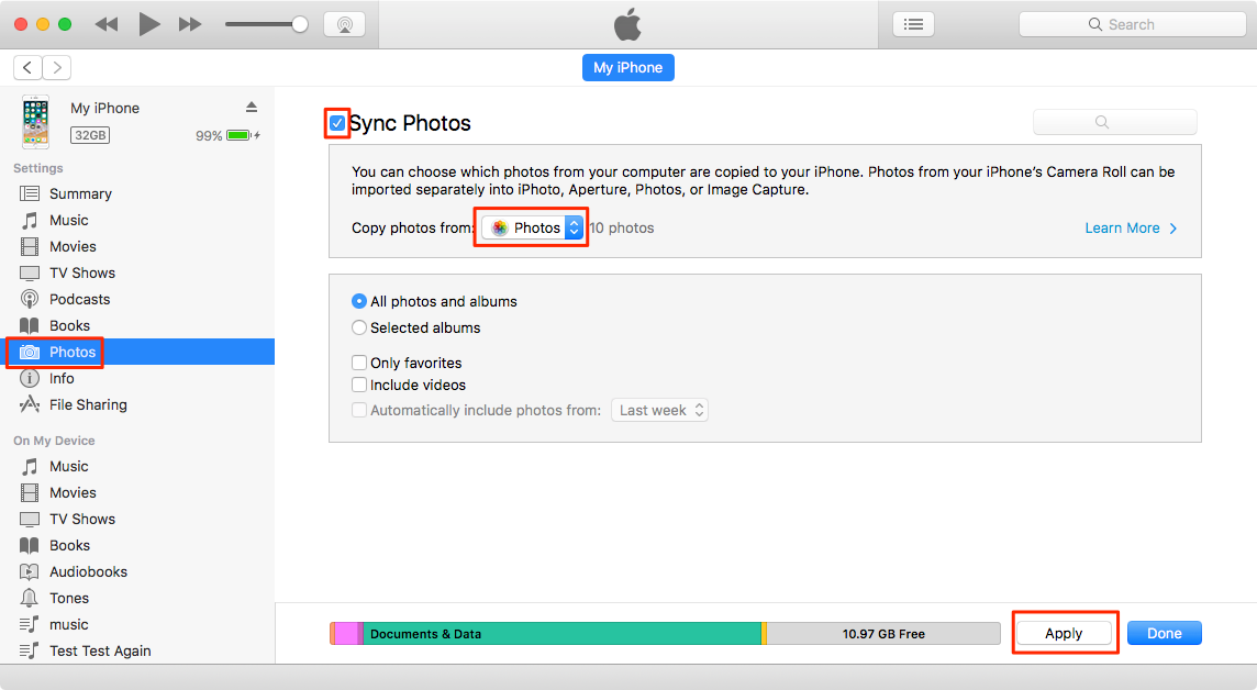 How to Import Photos from Camera to iPhone iPad – Step 2