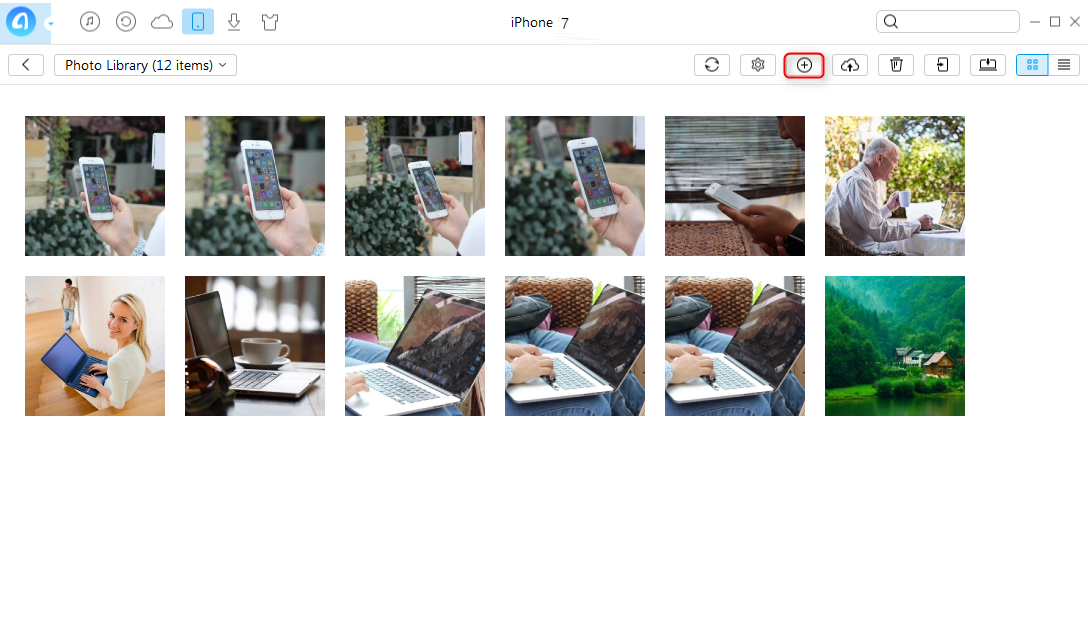 How to Transfer Photos from Dell Laptop to iPhone with AnyTrans - Step 3