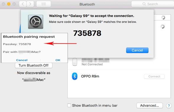 Transfer Photos from Huawei to Mac via Bluetooth - Step 3