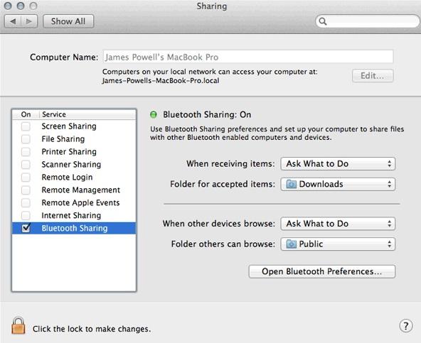 Transfer Photos from Huawei to Mac via Bluetooth - Step 4