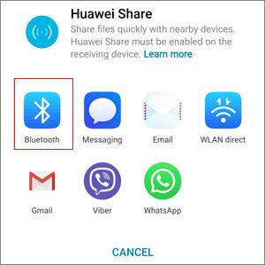 Transfer Photos from Huawei to Mac via Bluetooth - Step 5
