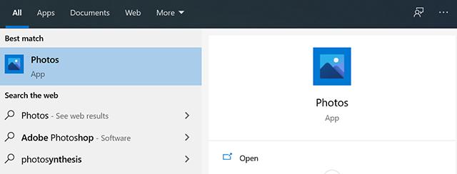 Access the Windows Photos app
