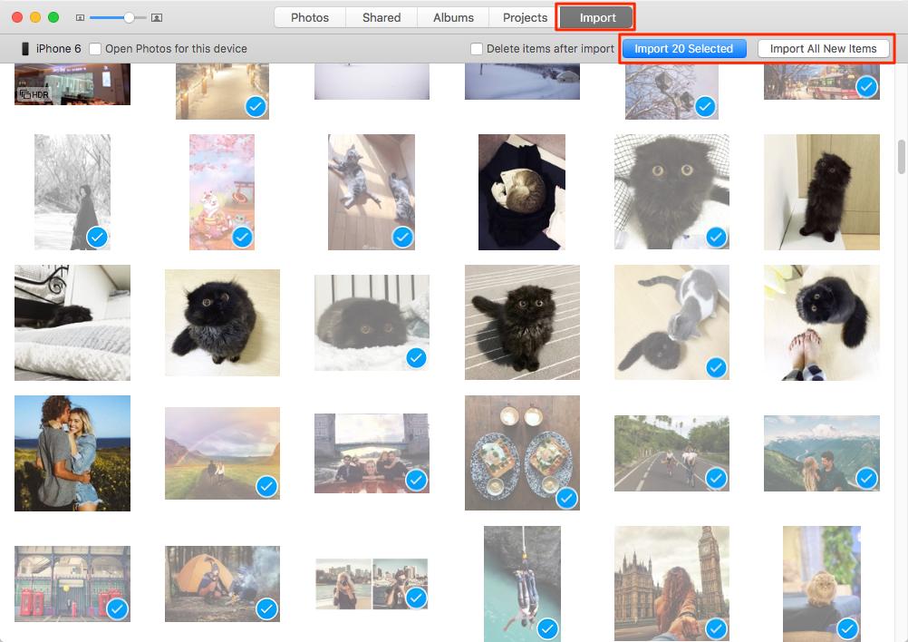 delete photos from iphone on mac el capitan