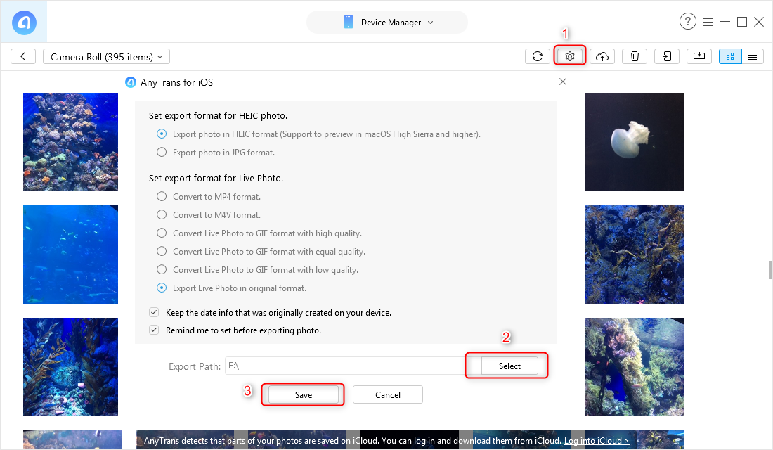 How to Transfer Photos from iPhone to SD Card – Step 3