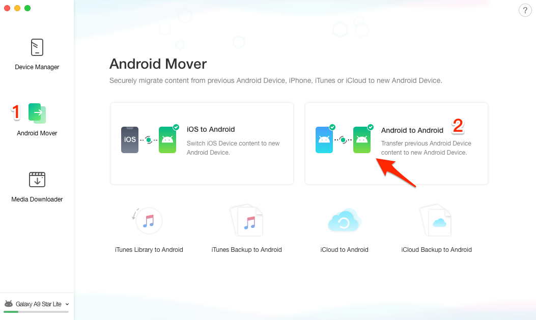 How to Transfer Photos from Samsung to Samsung – Step 1