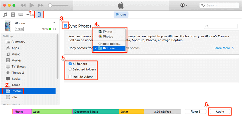 How to Transfer Photos from SD Card to iPhone/iPad with iTunes