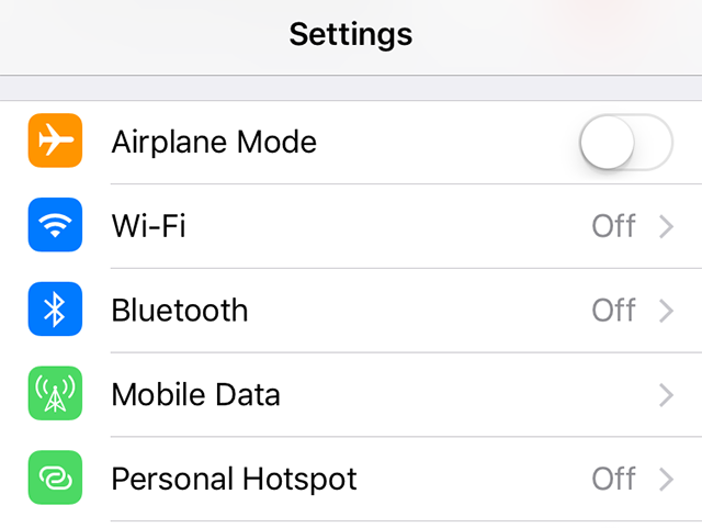 Enable Bluetooth on the iPhone