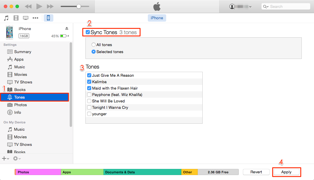 How to Transfer Ringtones from iTunes to iPhone 7 (Plus) with iTunes