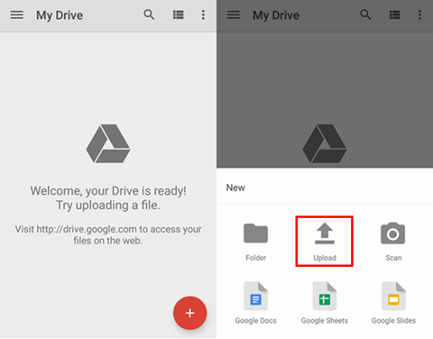 Move videos from Android to Mac with Google Account - Step 2