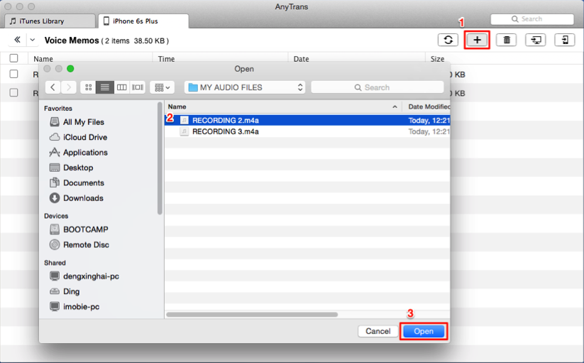 How to Transfer Voice Memos from Computer to iPhone with AnyTrans
