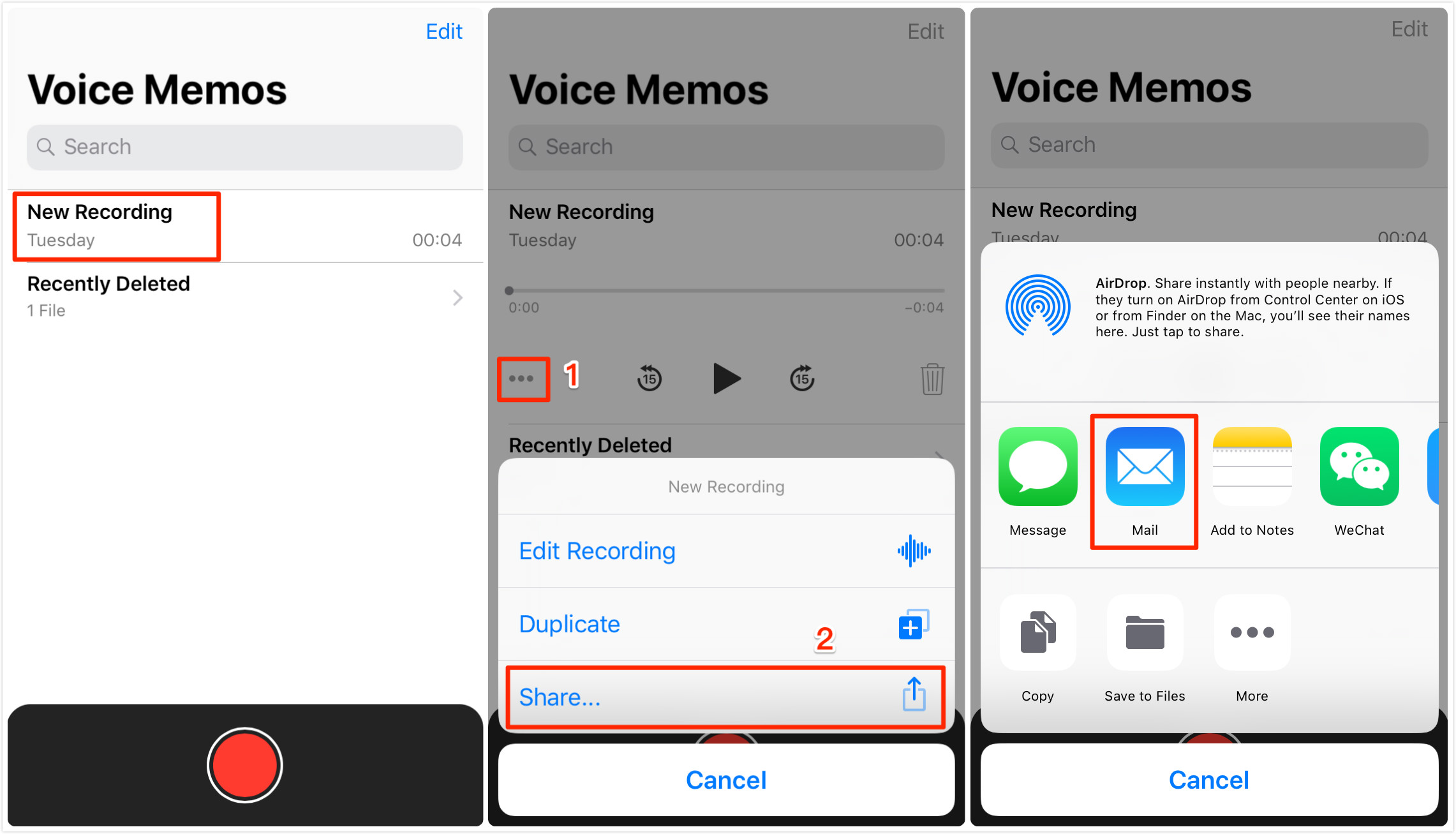 How to Transfer Voice Memos from iPhone to iPhone via Email