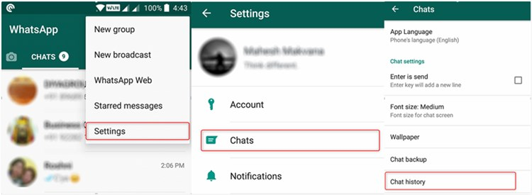 Transfer WhatsApp Messages from iPhone to Computer by Email