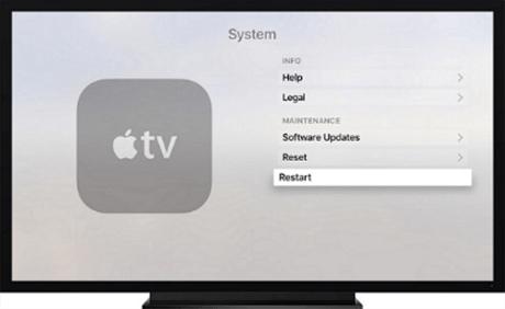 Restart the Apple TV