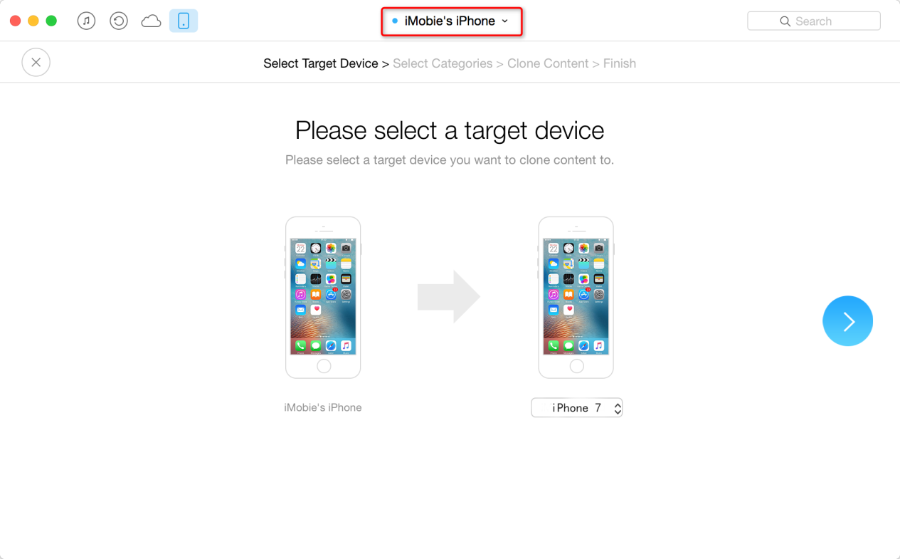 How to Transfer App Data from Old iPhone to New iPhone - Step 3