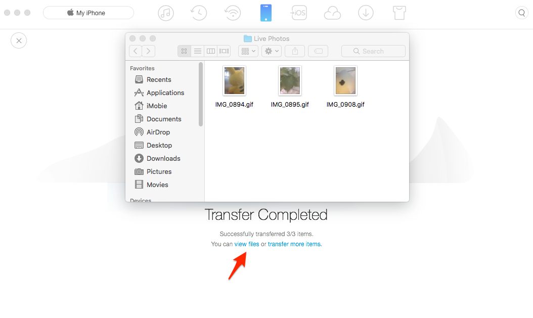 How to Make Live Photo into GIF with AnyTrans – Step 5