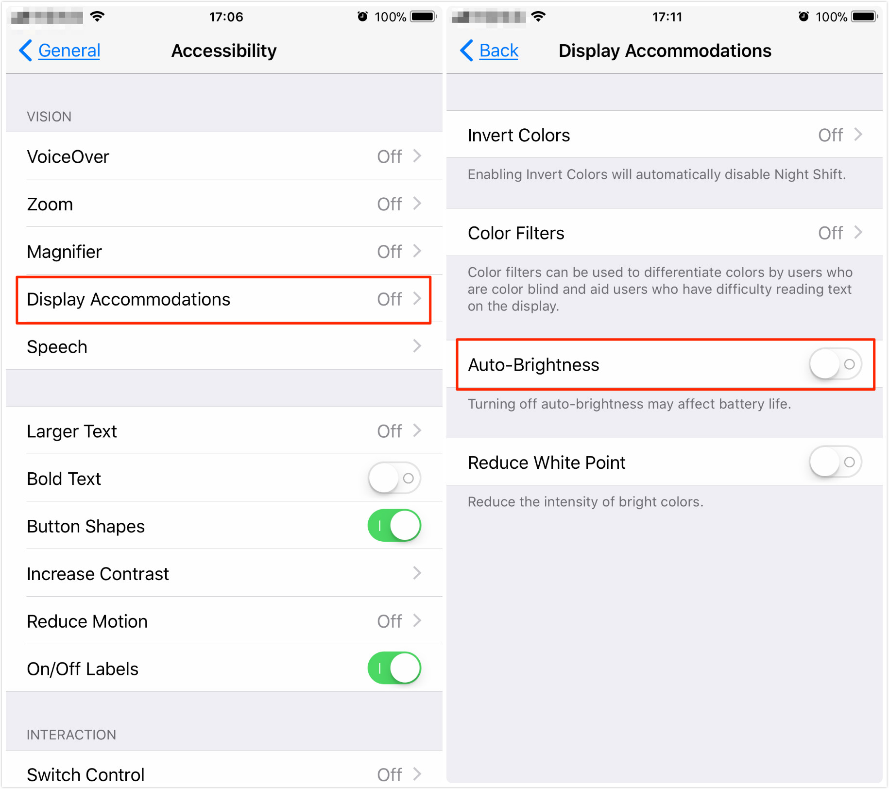 How to Turn Off Auto-Brightness in iOS 11 on iPhone/iPad – Step 1