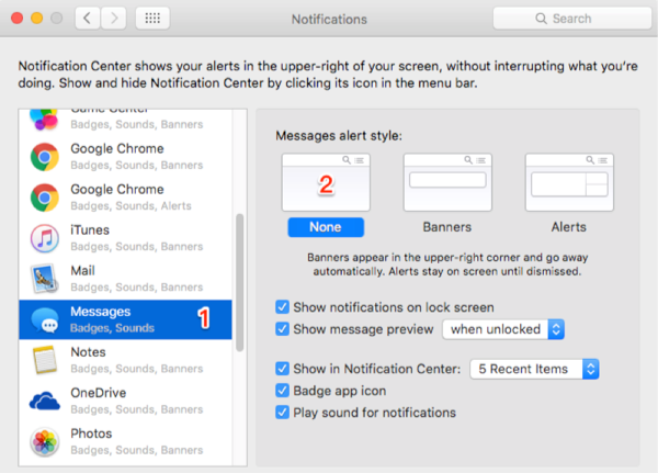 How to Turn off iMessage on Mac – Step 3