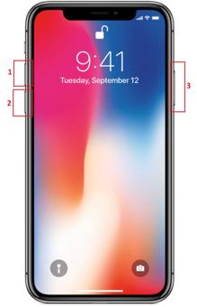 Force Shutdown and Hard Restart iPhone X