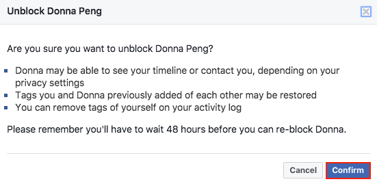 How to Unblock Someone on Facebook on Computer - Step 4