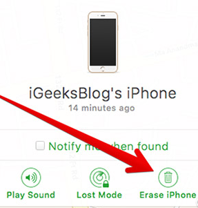 How to Undisable an iPhone without iTunes - Step 6
