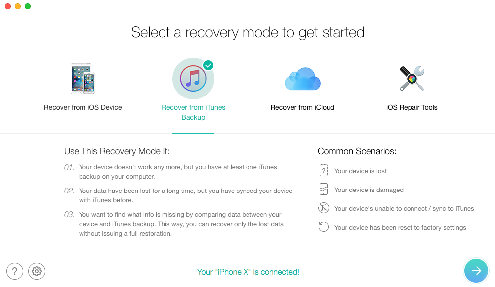 iTunes Alternative Tool to Restore Backup - PhoneRescue