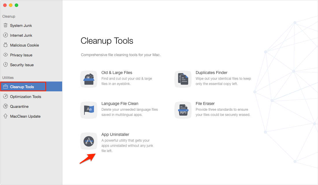 How to Delete Applications on Mac with MacClean – Step 1