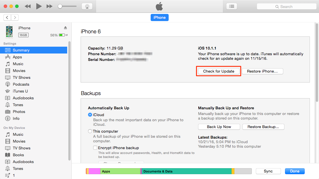 How to Update iPhone with iTunes – Step 3