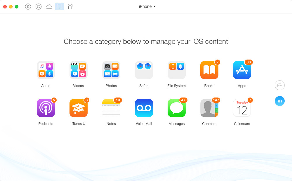 Manage iPhone/iPad/iPod Content with AnyTrans