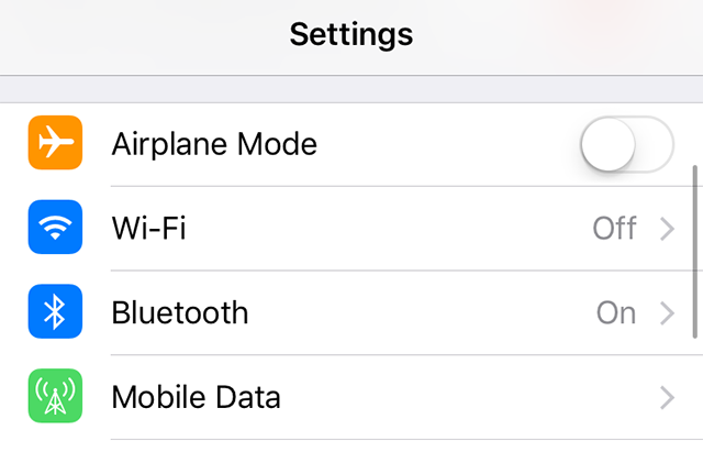 Access the WiFi option on iPhone