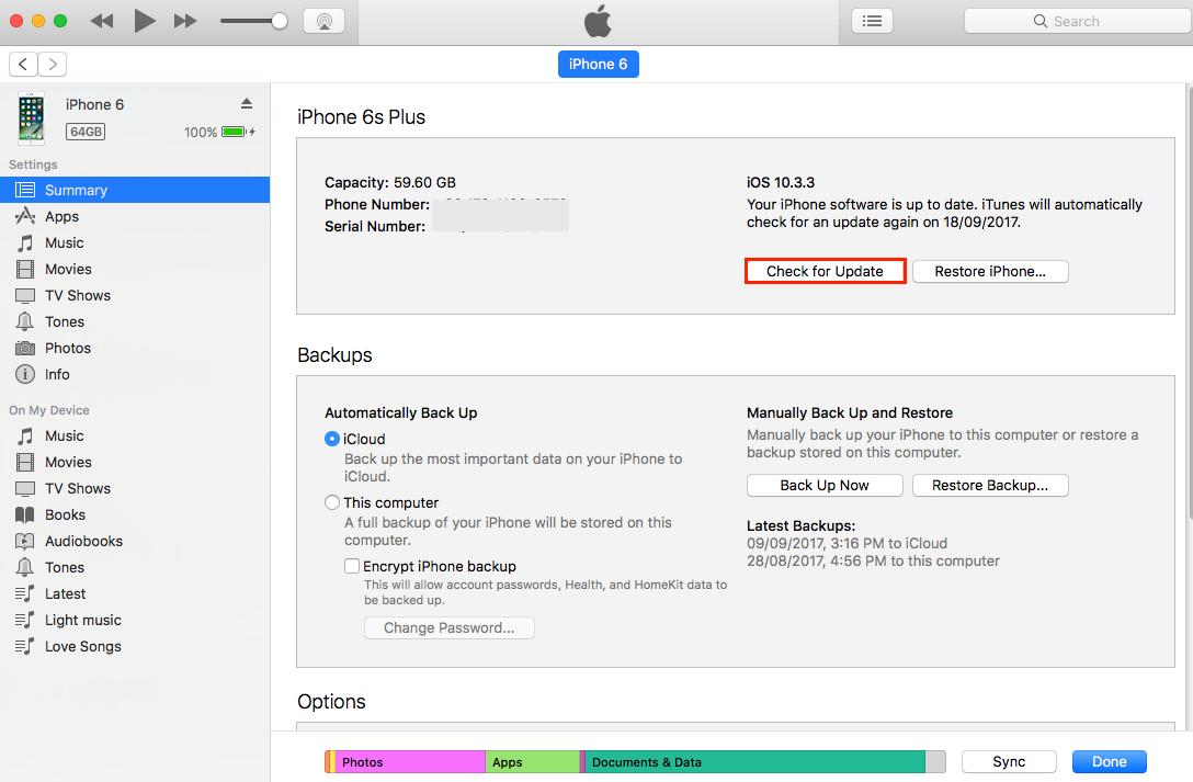 Install iOS 11 on iDevice via iTunes