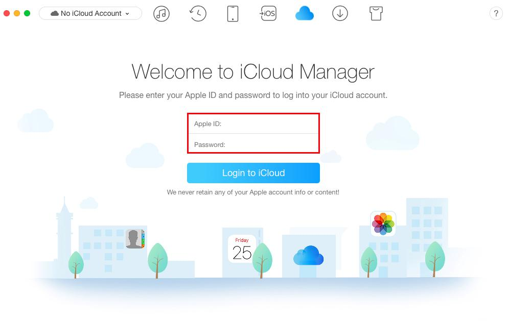 How to Upload Photos from iPhone 8/X to iCloud with AnyTrans - Step 1