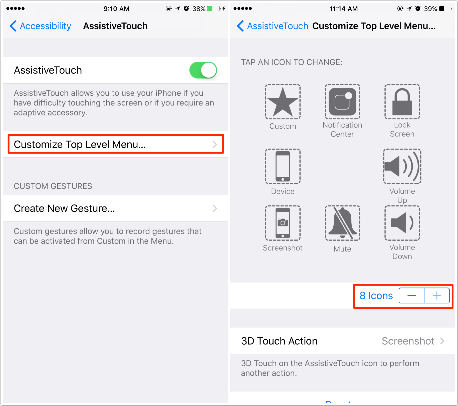 iphone accessibility touch how to use assistive touch on iphone 6 6s 7 ios 10 1303