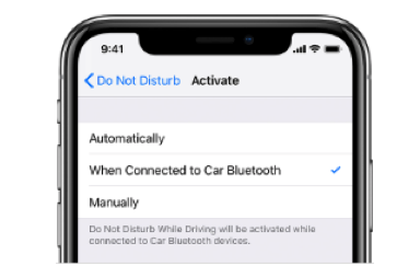 How to Use Do Not Disturb on iPhone via Driving - Settings