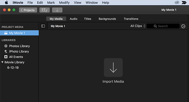 Add Your Media to iMovie