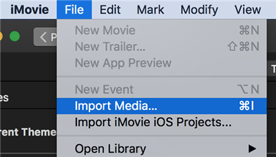 Add the Green Screen Item to iMovie