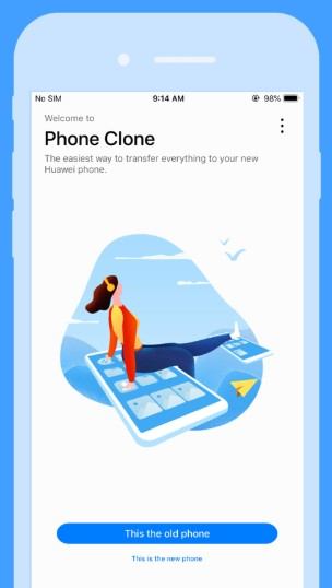 How to Use Phone Clone on iPhone- Step 1