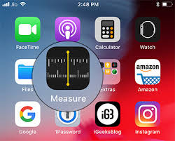 How to Use Measure App in iOS 12 – Step 1
