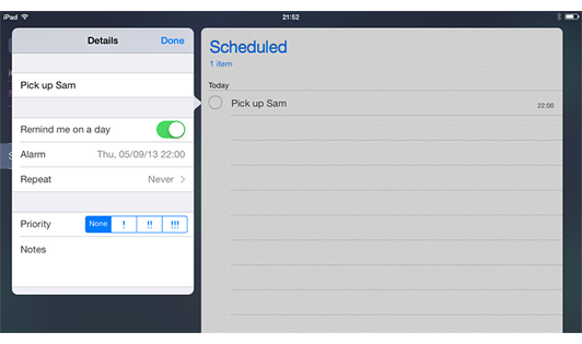 How to Use Reminder to Organize To-Do List (from iosguides)