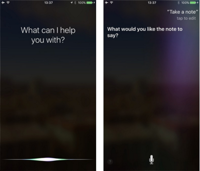 Take Notes on iPhone Using Siri