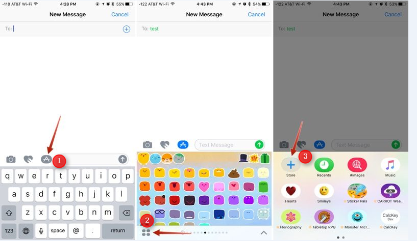 How to Use Stickers in iMessage on iPhone 7 − Step 2