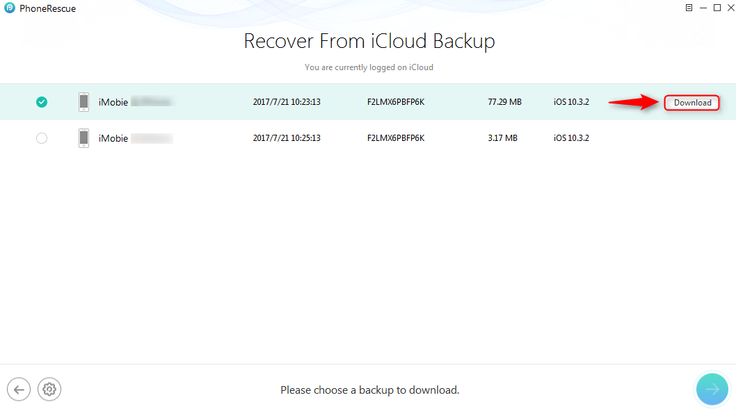 How to View iCloud Backup Photos - Step 2