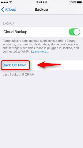 Backup Photos to iCloud via iCloud Backup