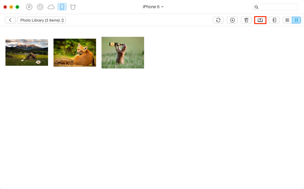How to View iPhone Photos on PC with AnyTrans – Step 3
