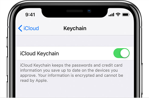 Turn on iCloud Keychain on iPhone