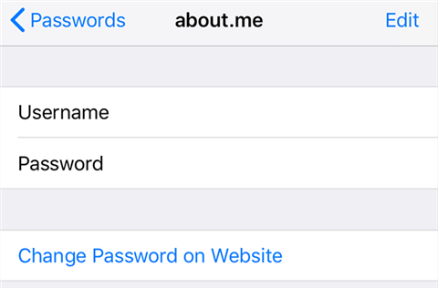 Click on Password to View Keychain Passwords