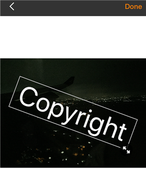 Customize the watermark