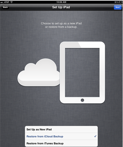 how to delete data from icloud on ipad