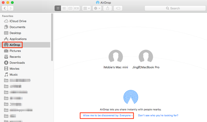 How to Transfer Photos from iPhone X/XS/XS Max/XR to Mac via AirDrop – Step 2