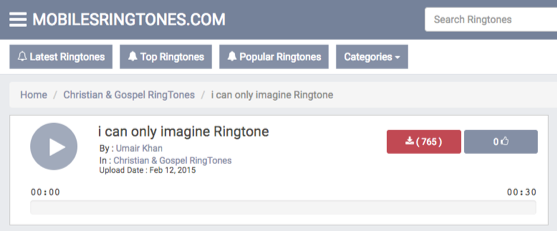 I Can Only Imagine Ringtone Free Download – via MobilesRingtones