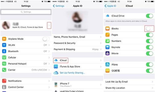 Recover the Missing iBooks from iCloud – Step 1